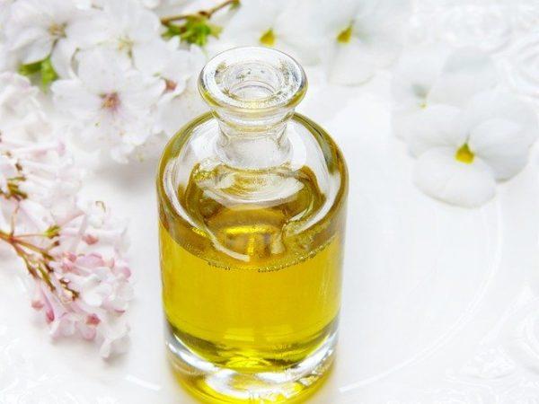bouteille d'huile de massage